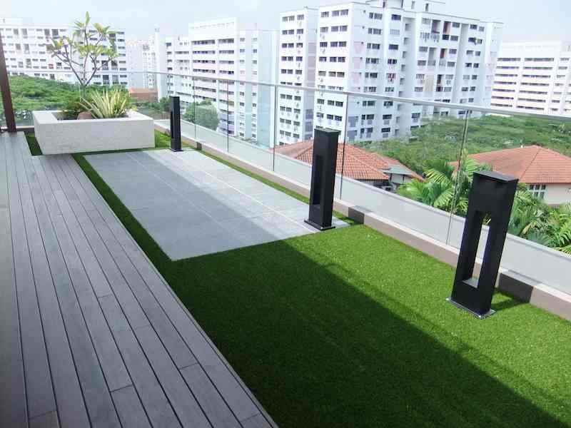 Royal artificial grass malaysia balcony terrace or patio for Balcony artificial grass